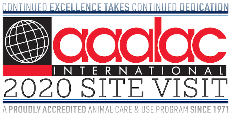 AAALAC 2020 Site Visit Logo - Continued Excellence Takes Continued Dedication
