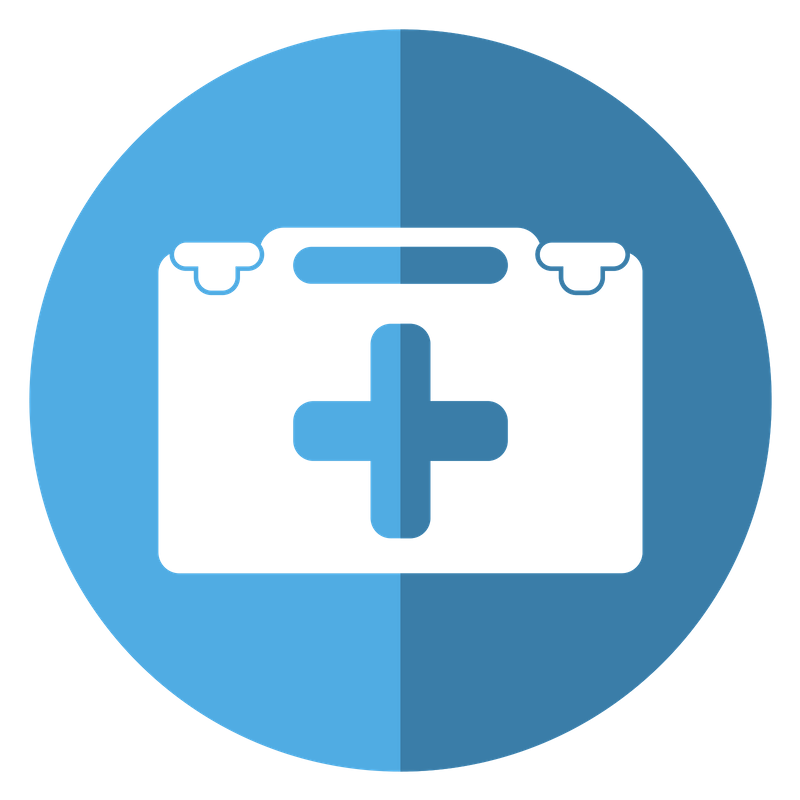 Blue animal health record icon