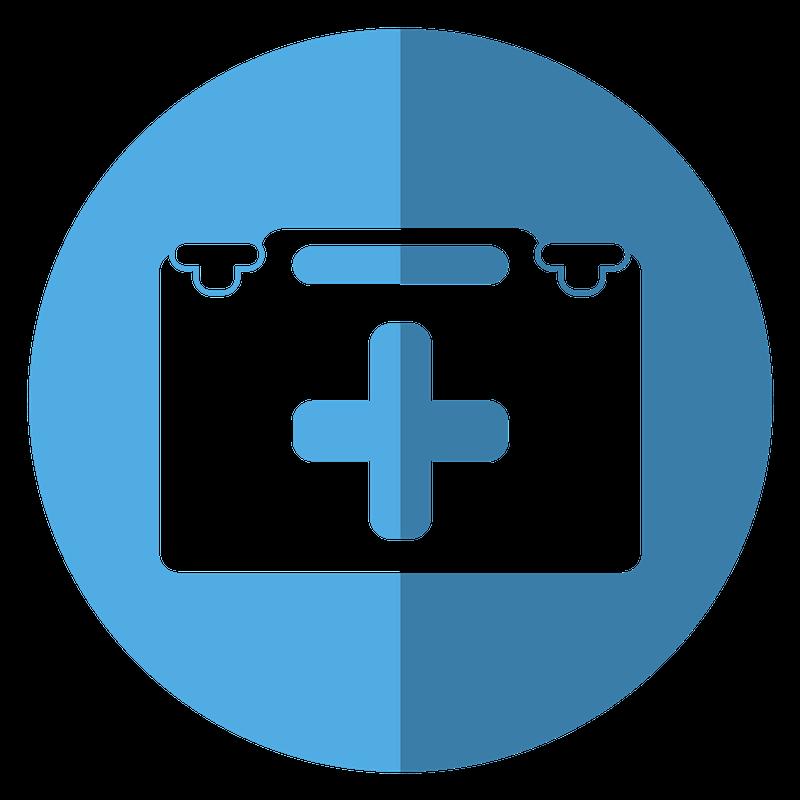 Blue animal health record icon