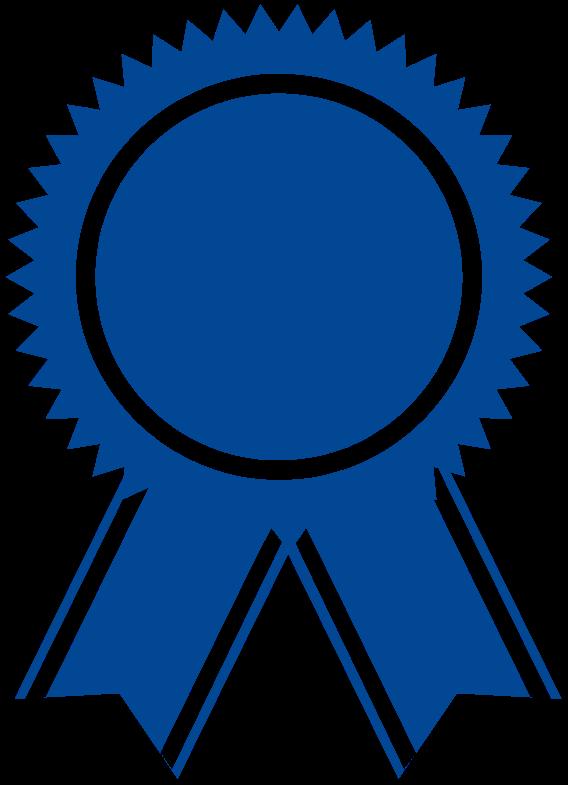 Blue award icon