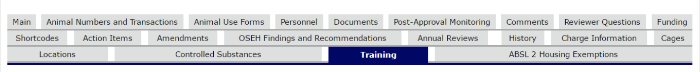 Screenshot of eRAM showing where to find Protocol Training Reports