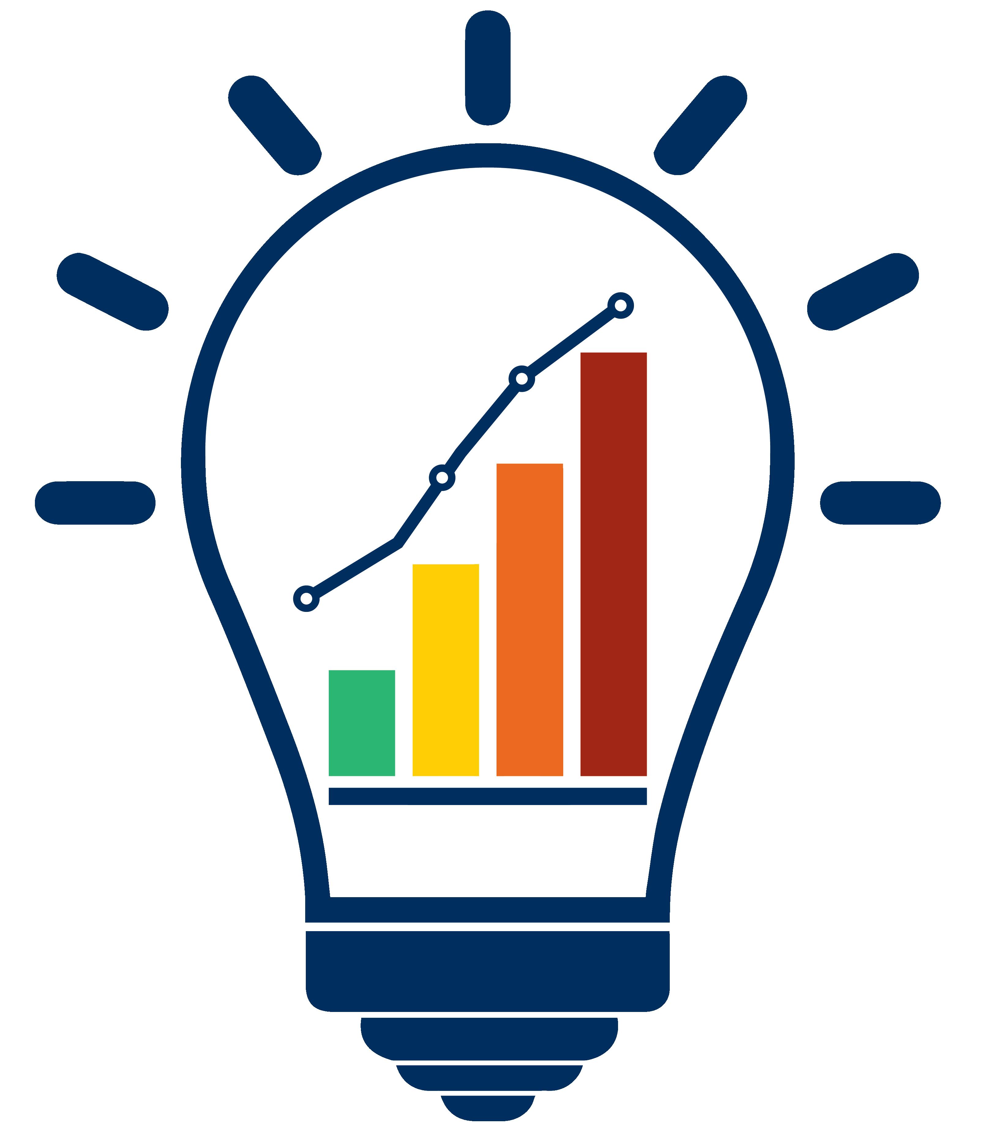 Blue lightbulb icon showing escalation plan