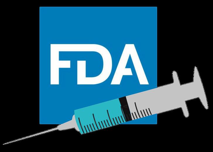 FDA logo with syringe icon
