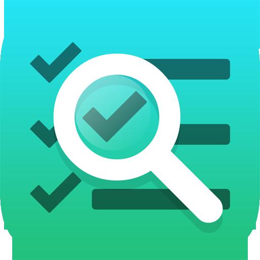 Blue and green checklist icon