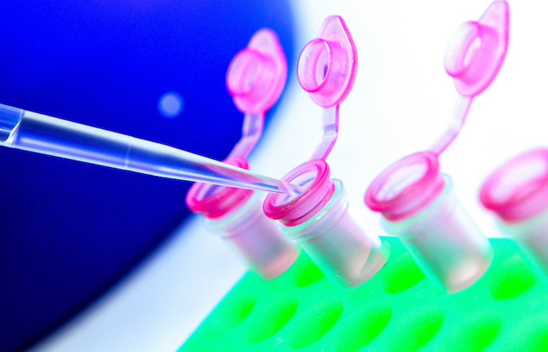 Image showing pipette and colorful RNA tubes