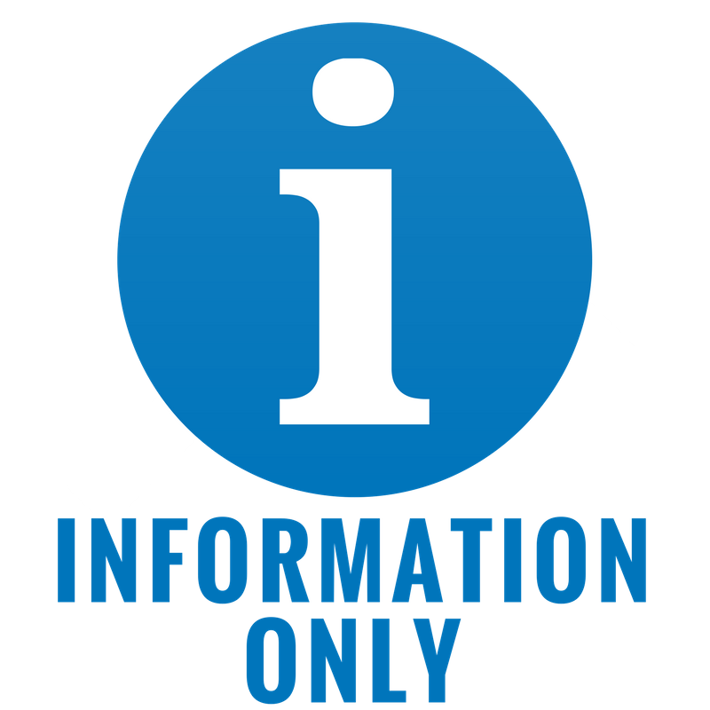 Blue Information Only icon