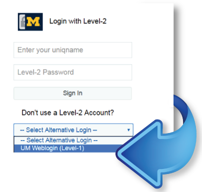 Screenshot showing new login option for MLearning training