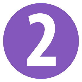 purple number two icon