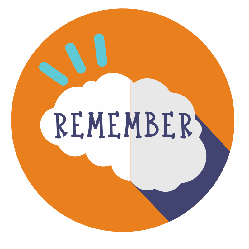 Remember brain thinking icon