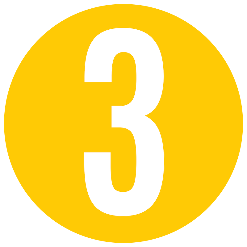 Yellow Number 3 Icon