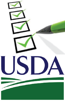USDA logo with checklist icon