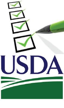 USDA logo with checklist icon